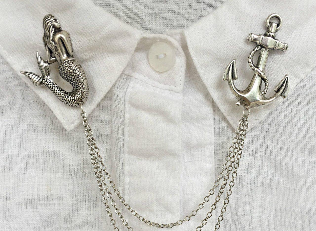 Mermaid Collar Pin