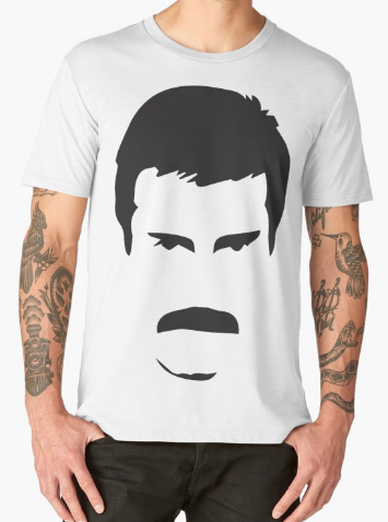Freddie Mercury face shirt
