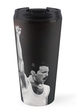 Freddie Mercury travel mug