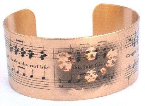 Bohemian Rhapsody brass cuff bracelet