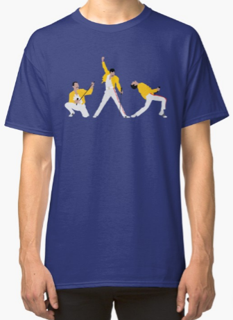 Freddie Mercury iconic poses shirt